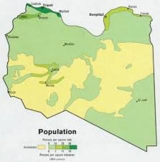 Libya Population Density