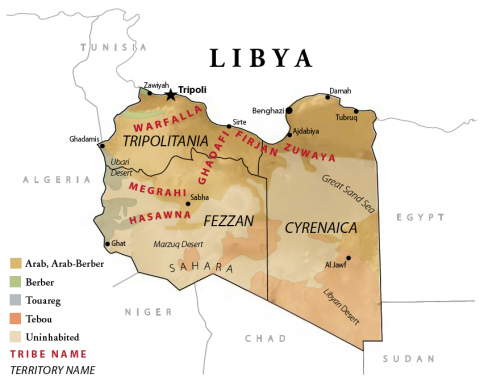 Libya Ethnic and Tribal Map