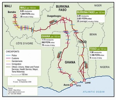 West Africa Barriers on Transport