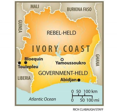 Côte d'Ivoire Ivory Coast Ethnic Division Map
