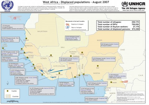 West Africa Displaced Population Map