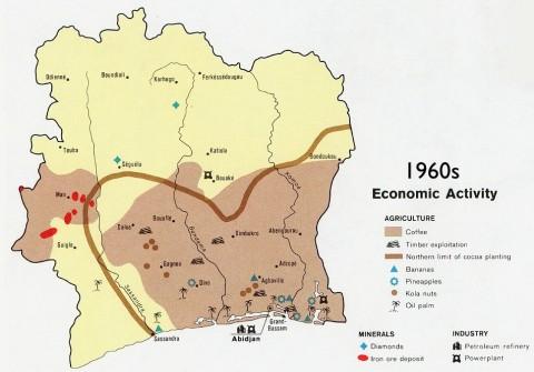 Cote D'ivoire Ivory Coast Economy Map